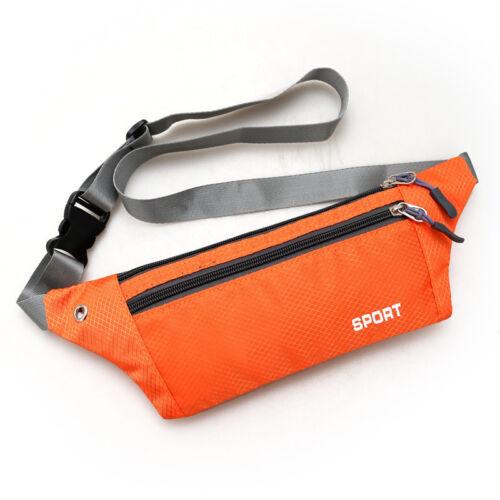 Running Belt Bum Waist Pouch Fanny Pack Sport Hiking Jogging Zipper Travel Bag