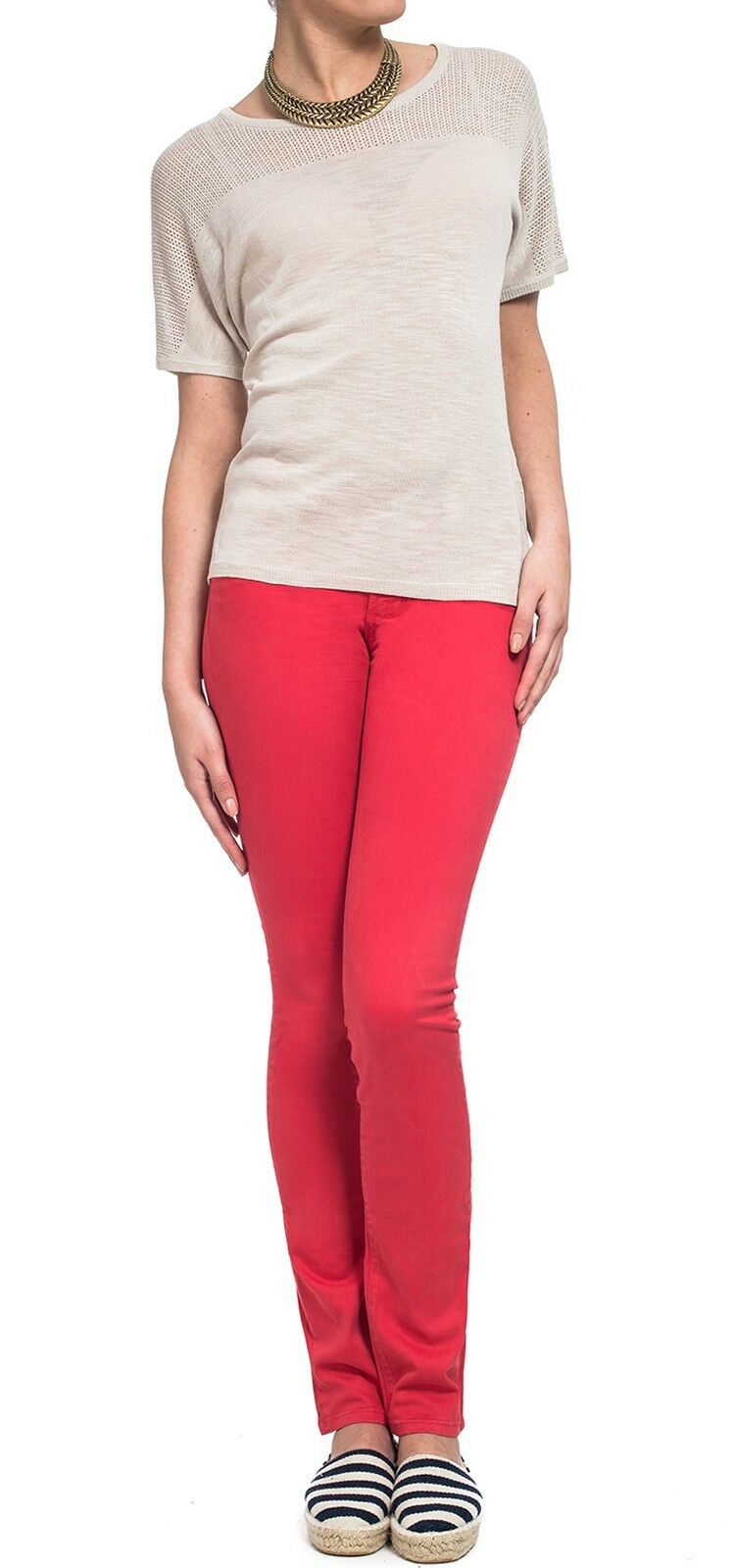 BNWT NYDJ SKINNY RED PLUS SIZE LADIES LUXURY JEANS MADE IN USA US 24