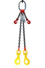 Chain Sling 932 X 5 Double Leg Swivel Positive Lock Hooks Adjusters Grade 80