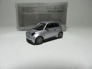 Minichamps 870098101 E Go Life 2018 Grau Metallic 1:87 Maßstab Neu Spielzeugautos