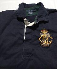 Women's Polo Ralph Lauren Big Logo England Rugby Long Sleeve Shirt SZ XL EUC