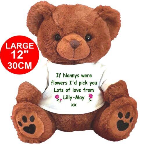 1 PERSONALISED BROWN TEDDY BEAR ANY OCCASION NAN MUM NANNA GRANDMA NANNY MUMMY