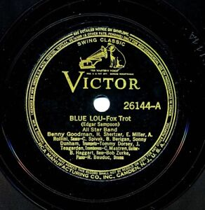 ALL STAR BAND on 1939 Victor 26144 - Blue Lou / The Blues
