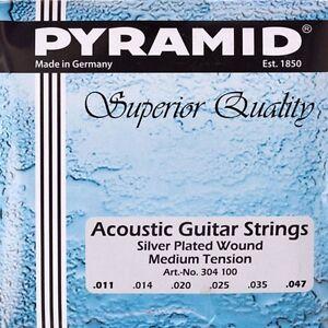 Pyramid-Acustica-Chitarra-011-047-Corde-Set-Acoustic-Argento-Placcato-Wound