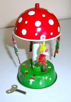 Karussell Mit Zwergen Made In Germany °° Tin Toy °° Ruf Zuerst Blechspielzeug Pilz PräZise