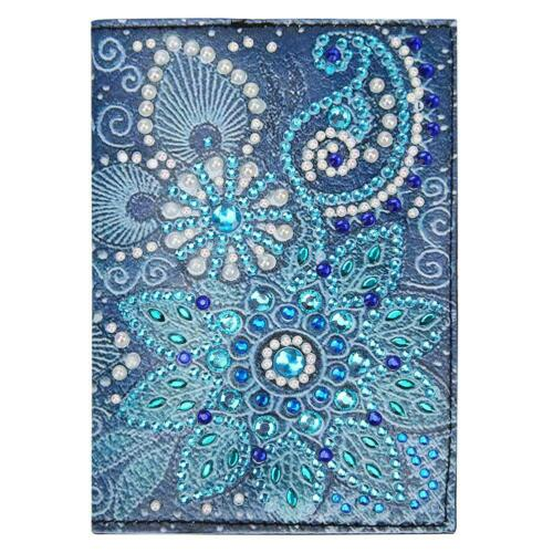 DIY Special Shaped Diamond Painting Leather Passport Protection Cover Case Gift