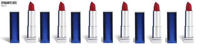 Maybelline Color Sensational Red Lipstick Matte Lipstick, Dynamite Red (6 Pack)