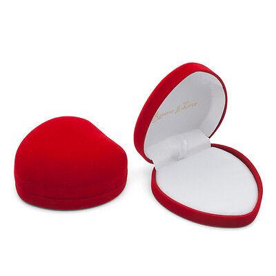 Herz Samt Schmuck Geld Etui Box Dose Schachtel f Ring Kette Ohrring Set 10x9x4cm