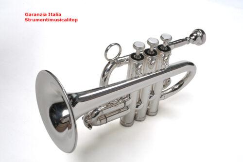 Tromba Piccola Si bemolle Karl Glaser® Argento Ottonato con Custodia Accessori