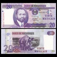 Mozambique 20 Meticais, 2006, P-143, AA prefix, UNC