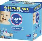 Curash Babycare Water Wipes - Pack of 6