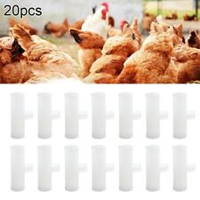 20 12 Pvc Tee Fittings Automatic Waterer Drinker Cupnipples Chicken Poultry