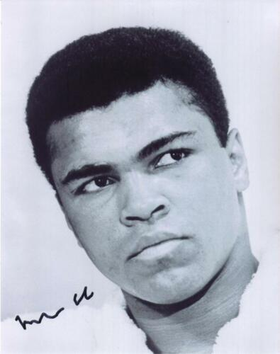 Muhammad Ali B/W Close Up 8X10 RP Photo GREATEST OF ALL TIME