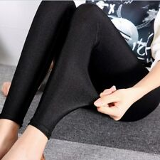 e9c3997588711 Womens High Waist Stretch SKINNY Shiny Spandex Leggings Slim Fit Tight-pants
