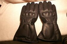 Men's  Motorcycle Riding Gloves Thinsulate Waterproof w/ Knuckles Black Lge