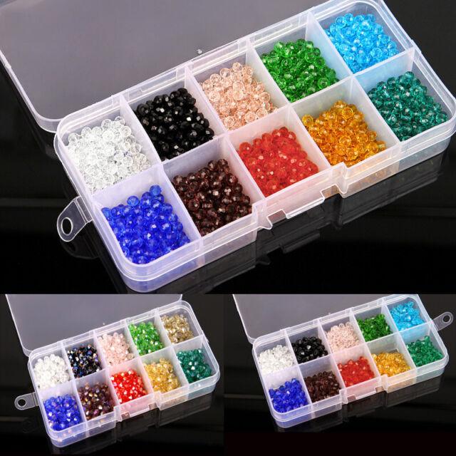 4mm 1000Pcs/Box DIY Schmuck machen facettierte Bicone Kristall Glasperlen
