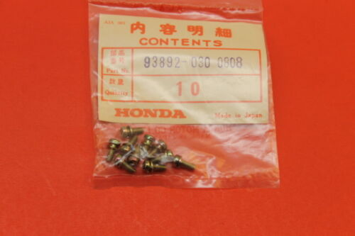 NOS HONDA CR125 CR250 CRF230 TRX450 XR400 SCREWS QTY 10 PART# 93892-030-0808