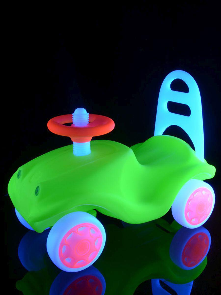 UV Schwarzlicht Neon Rutschfahrzeug Kinderauto Rutscher Rutschauto Lauflernauto