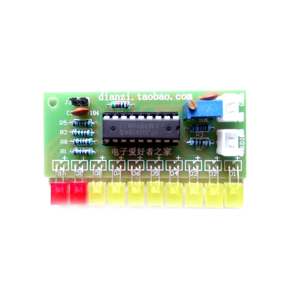 1pcs Lm3915 10 Segment Audio Level Indicator Diy Kit Ebay Led Vu Meter Not Working Properly Electrical Engineering