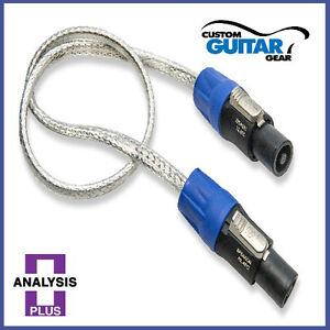 Analysis-Plus-Pro-Silver-Oval-Speaker-cable-6FT-Length-SPEAKON-PLUGS