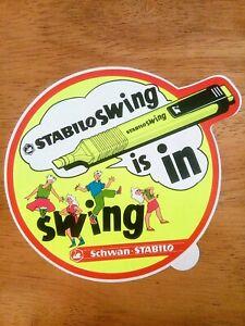 Vintage-1980s-Sticker-Schwan-STABILO-Swing