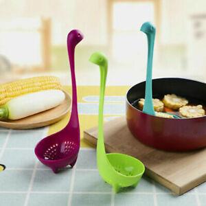 Loch-Ness-Monster-Ladles-Design-Feet-Upright-Kitchen-Soup-Spoons-Kitchen-Ladle