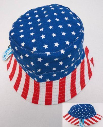American Flag Bucket Hat USA Stars Stripes Patriotic 100/% Cotton Fishing Cap