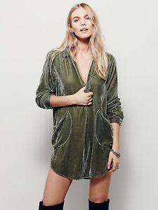 UK-Women-039-s-V-Neck-Faux-Velvet-Blend-Casual-Slim-Fit-Shirt-Blouse-Button-Coat-Top