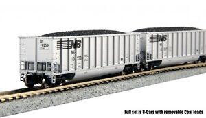 Kato-106-4623-N-Bethgon-Coalporter-Hopper-8-Car-Set-Norfolk-Southern-8pack