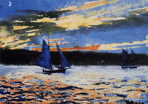Gloucester Sunset  by Winslow Homer  Giclee Canvas Print Repro