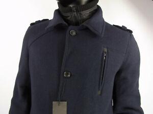 mit Jacke Marken Jacke zu Artikel Herren Mantel Größe Blau Return abnehmbarer 54 Details vOnN8mw0