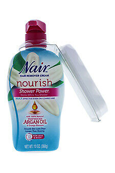 Nair Argan Oil Shower Power Hair Removal Lotion 13oz 022600588566