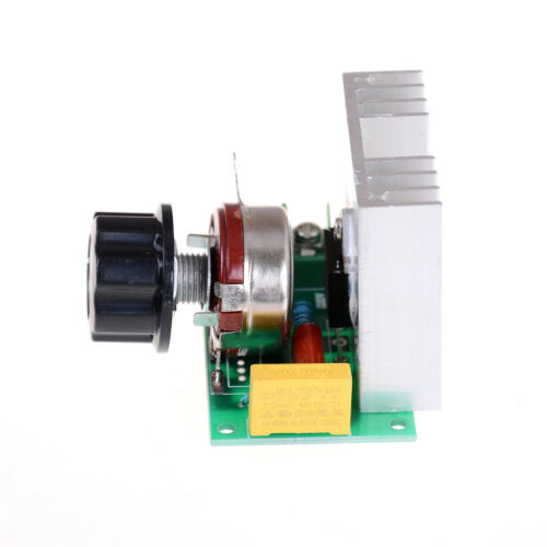 AC 220V 3800W SCR Voltage Regulator Dimmers Dimming Speed Thermostat ControlYRDE