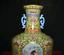 """miniature 9 - 11,6 """"Qianlong Marqué Old China Couleur Porcelaine Fleur Oiseaux Bouteille Vase"""