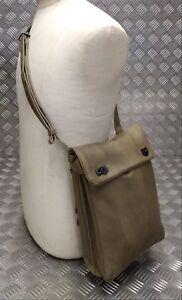Genuine-Vintage-Military-Officers-Coyote-Document-Case-Shoulder-Instrument-Bag
