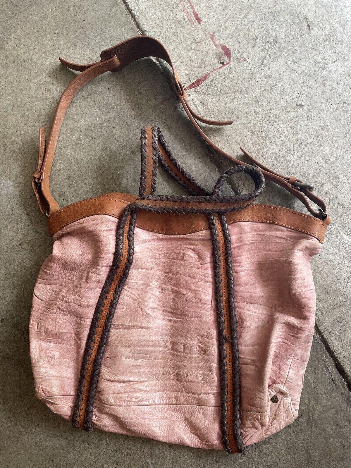 holding horses Leather Dusty Pink bag - image 1