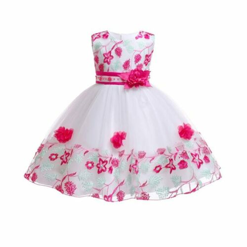 Bridesmaid dresses formal party flower princess wedding tutu dress girl baby kid