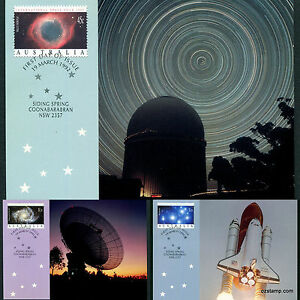 1992-International-Space-Year-Maxi-Cards-Prepaid-Postcard-Maxicards-Stamps