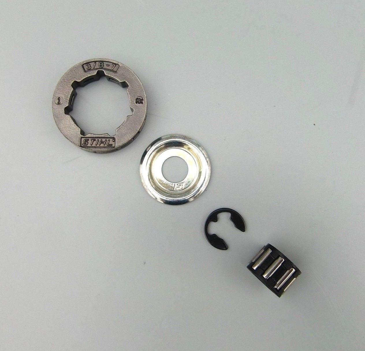 "Ringkettenrad Kettenrad mit Ring /& Lager 3//8/"" passend für Stihl MS381 MS 381"