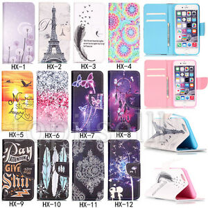 Fashion-Flip-Patterned-PU-Leather-Hybrid-Wallet-Slot-Stand-Case-Cover-Lot-Bumper