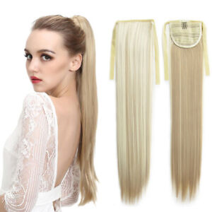 Clip-In-Long-Ponytails-Ribbon-Straight-Synthetic-Ponytail-Hair-Extensions-22-034