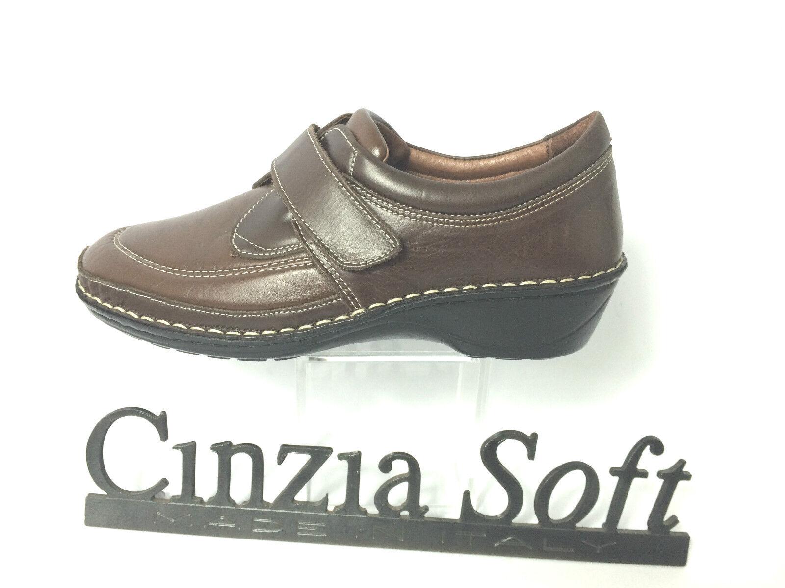 CINZIA SOFT PANTOFOLA P.ESTRAIBILE DONNA SCARPA COLORE MARRONE P.ESTRAIBILE PANTOFOLA ZEPPA CM.4 ITALY 851baf