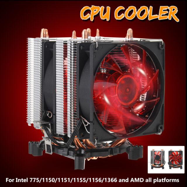 4 Pipe 4 Pin CPU Cooler Heat Sink Fan for Intel 775/1150/1151/1155/1156/1366 AMD