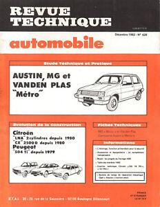 Rta Revue Technique Automobile N° 428 Austin Mg Vanden Plas Metro