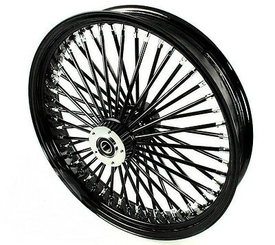 fat spoke 21 black front wheel harley electra glide road king street 2000 2007 ebay. Black Bedroom Furniture Sets. Home Design Ideas