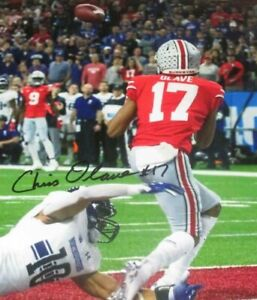Chris Olave Autographed Signed 8x10 Photo ( Ohio State Buckeyes ) REPRINT