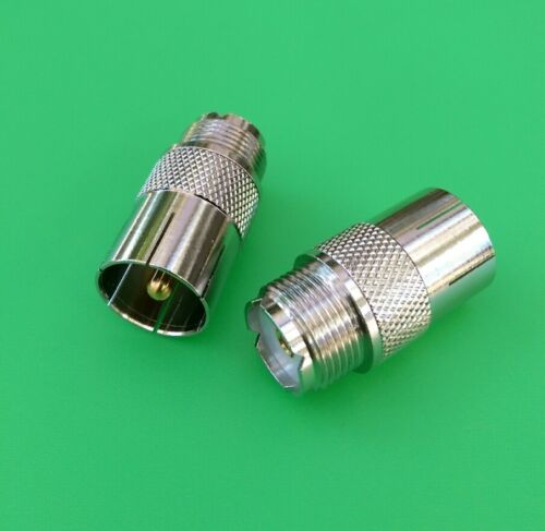 UHF Push-On//Quick Male to UHF Female Connector USA Seller 5 PCS PL-259