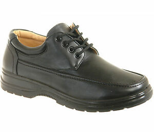 New-in-Box-Mens-Black-Comfort-Shoes-UK-Size-6-7-8-9-10-11-12