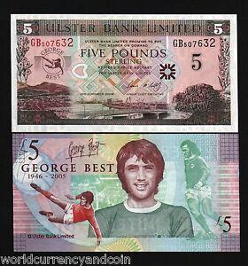 NORTHERN IRELAND 5 POUNDS 2006 GEORGE BEST P 339 UNC