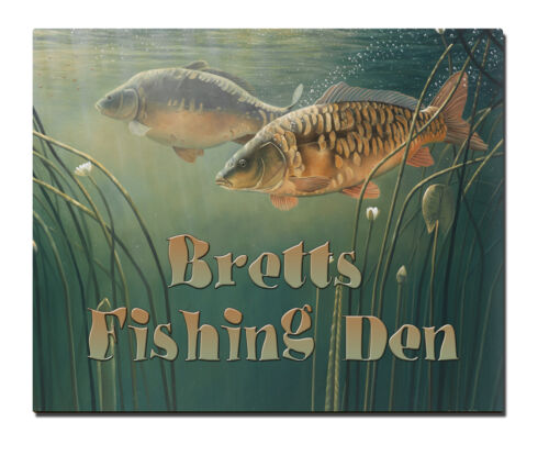 Personnalisé pêche den//shed signe cadeau fête des pères cadeau d/'anniversaire